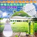 LED智慧省電充電燈泡12W含掛勾(2入裝)加贈充電燈座1個