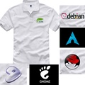 redhat opensuse debian arch linux gnome程序員短袖純棉T恤
