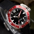 【HAMILTON 漢米爾頓】Khaki Navy 特種蛙人夜光機械錶 紅(H77725335)