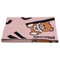 MOSCHINO 小熊玩偶圖案造型羊毛針織披肩/圍巾(粉)