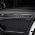 奧迪新A4 專用改裝 碳纖維中控車門面板裝飾條 奧迪A4改裝內飾