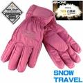 SNOW TRAVEL AR-ONE 粉/M英國防水套+白鵝羽絨防水保暖滑雪手套 輕井澤2016年滑雪紀念版 滑雪 騎車