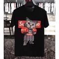 Supreme x LV 拳擊貓 18新款 夏季 短袖T恤