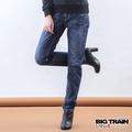 BIG TRAIN 墨達人祥雲男友褲-女-中藍