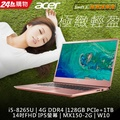 ACER SF314-56G-5968 粉(i5-8265U/MX150-2G/128GB PCIe SSD + 1TB/W10/FHD)