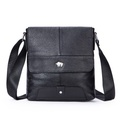 DRAKA 達卡 - 黑色時尚 - 真皮斜背包