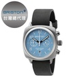 [BRISTON] Clubmaster Chrono 簡約時尚方形腕錶 天空藍 皮錶帶16140-S-C-18-LVB