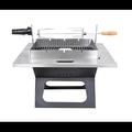 《WASHAMl》可折疊不鏽鋼桌面型旋轉燒烤架