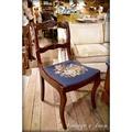 美國古董實木老餐椅 復古餐桌椅 椅面花卉布很美 [CHAIR-0106]