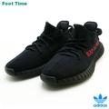 愛迪達E G推進350 V2 adidas YEEZY BOOST 350 V2 DESIGN BY KANYE WEST核心黑色/核心黑色-紅CORE BLACK/CORE BLACK-RED CP9652人運動鞋 Foot Time