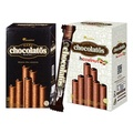 印尼 黑雪茄巧克力威化捲(16gx20支入) 巧克力/榛果巧克力口味【小三美日】D311486
