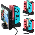 VSEER Nintendo Switch Controller Charger, Joy-con Charging Dock with Pro Controller Charger for Nintendo Switch - intl