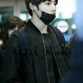 防彈少年團BTS田柾國JUNGKOOK同款帥氣黑色風衣外套