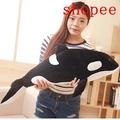超軟虎鯨娃娃公仔抱枕韓國搞懶人毛絨玩具鯨魚萌可愛睡覺抱枕女孩