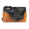 Vintage Leather Camera Case for Canon powershot G7XII / G7 X II / G7X MarkII / G7 X Mark II Camera Bag Cover - intl