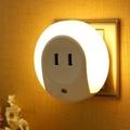 自動光感小夜燈+USB充電插座