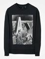 美國百分百【Armani Exchange】T恤 AX 圓領 T-shirt 長袖 logo 大學T 灰色 I429