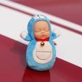 【MUMU】睡萌娃娃包掛件睡眠娃娃鑰匙扣皮卡丘龍貓公仔毛絨玩具可愛布朗熊