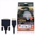 HDMI對DVI-D(24+1)高畫質數位影音傳輸線(24k鍍金)-1.8米                              黑色