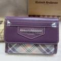 ~雪黛屋~Kinloch Anderson英國金安德森格紋中型皮夾專利緹花布+100%牛皮 KA-151004繽紛紫