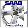 For SAAB WHEEL DECALS - TURBO 900 9-3 9-4 9-5 - x6 !!!