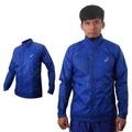 【ASICS】男LITE SHOW立領外套 風衣 平織 慢跑 防潑水 寶藍銀
