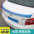 專用于豐田Toyota14-18款Toyota Vios尾翼免打孔烤漆定風尾翼導流板擾流板改裝