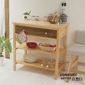 CiS自然行實木家具 電器櫃-碗盤櫃-雜貨櫃-置物櫃W90cm(原木胡桃色)