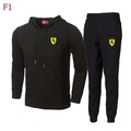 Ferrari(法拉利)兩件套套裝男 休閒套裝女 春秋新款時尚寬鬆顯瘦百搭連帽衛衣上衣+褲子 情侶運動套裝 男女同款