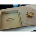 日本輕珠寶 Nojess k金鏤空戒指#11+TSUTSUMI 玫瑰金10K鑽石戒指#12