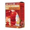 Sock Squirrel Kit, Red , Made in the USA