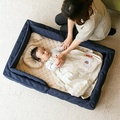 farska farusukakompakutobeddoraitobebi被褥安排被褥安排嬰兒床簡單的折疊隨身携帶嬰兒午睡嬰兒 KodomotoKurashi