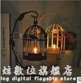 歐式樹葉鳥籠燭台家居擺件 WD科炫數位