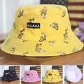 Fasion Banana Chips  Double Side Hats Vintage Canvas Fisherman Hat Women Couple Sunhat Cap Hip Hop P