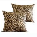 高質感可拆洗超大豹紋大抱枕(65*65cm)-2入
