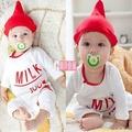 寶貝倉庫~奶瓶造型哈衣~新生寶寶衣服~嬰兒連體衣~ 爬服~ 開襠~包屁