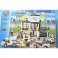 開智積木 6725 警察總署 城市系列 約631片/一盒入(促1000)-可跟樂高一起組合喔 跟樂高一樣好玩-鑫