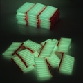 100PCS  white Luminous For Nerf Bullets Soft Hollow Hole Head 7.2cm Refill Darts Toy Gun Bullets for Nerf toys Kid Children Gift