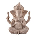 Sandstone Ganesha Buddha Elephant Statue Sculpture Handmade Figurine - intl