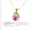 新光飾品-粉色魅影水晶項鏈