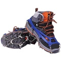 Crampons ICE Spikes สำหรับรองเท้าบูทเดินป่ารองเท้า YIQIC Universal Anti - SLIP 10 ฟันที่กันลื่นหิมะสำหรับแคมป์ปีนเขา (สีฟ้า)