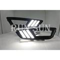 ●○RUN SUN 車燈,車材○● 全新 FORD 福特 16 17 FOCUS MK3.5 LED雙色白黃 野馬款 日行燈 跑馬方向燈