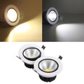 12W Non-dimmable COB LED Recessed Ceiling Light Fixture Down Light Kit