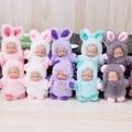 睡萌娃娃小熊/兔子睡眠寶寶鑰匙扣睡萌娃娃baby包掛件掛飾
