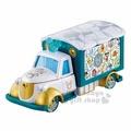 〔小禮堂〕迪士尼 米奇 TOMICA小汽車《白綠.米奇》日本7-11限定款