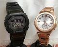 戀人們的G打擊一對表G-SHOCK BABY-G一對手錶電波太陽能卡西歐2瓶一套g打擊嬰兒g GMW-B5000GD-1JF MSG-W200DG-4AJF人氣包免費聖誕節 Jewelry time Murata of watch