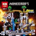 樂拼18011 我的世界 Minecraft 礦場礦坑 礦車軌道 苦力怕/創世神/麥塊/非LEGO樂高21118積木