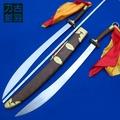 上古龍泉刀劍雞翅木環首硬雙刀 太極硬刀武術重刀 未開刃