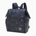 【真愛日本】17052500014 寬口輕量後背包-KT壓紋銀心黑AAQ 三麗鷗 kitty 凱蒂貓 背包 包包 預購