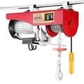 Happybuy Lift รอกสลิงไฟฟ้า 440 ปอนด์รอกสลิงไฟฟ้า 110 โวลต์เหนือศีรษะเครนยกรอกไฟฟ้าสลิงรีโมทคอนโทรล (440LBS) - นานาชาติ